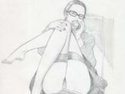 "Леон Фролло (Leone Frollo) ""Hot Call"" (drawing)"