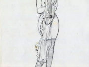 "Леон Фролло (Leone Frollo) ""Street Woman "" (drawing)"