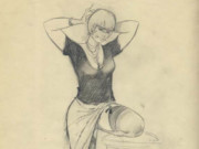 "Леон Фролло (Leone Frollo) ""June Juno"" (drawing)"