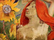"""Поль Гоген (Paul Gauguin) """"Redheaded woman and sunflowers"""""""