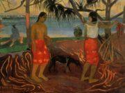 "Поль Гоген (Paul Gauguin) ""Under the Pandanus"""