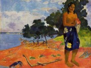 "Поль Гоген (Paul Gauguin) ""She goes down to the fresh water"""