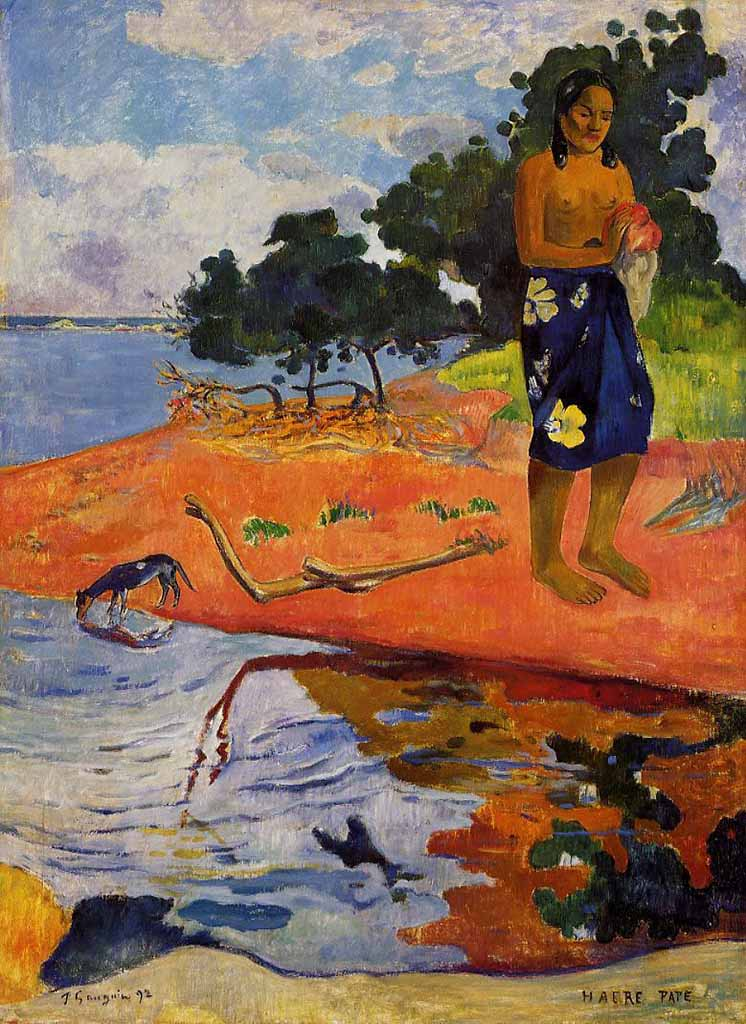 "Поль Гоген (Paul Gauguin) ""She goes down to the fresh water"""