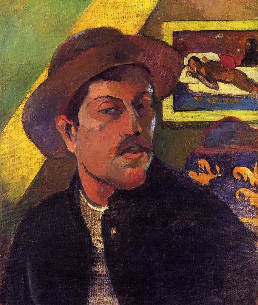 "Поль Гоген (Paul Gauguin) ""Self Portrait in a Hat"""