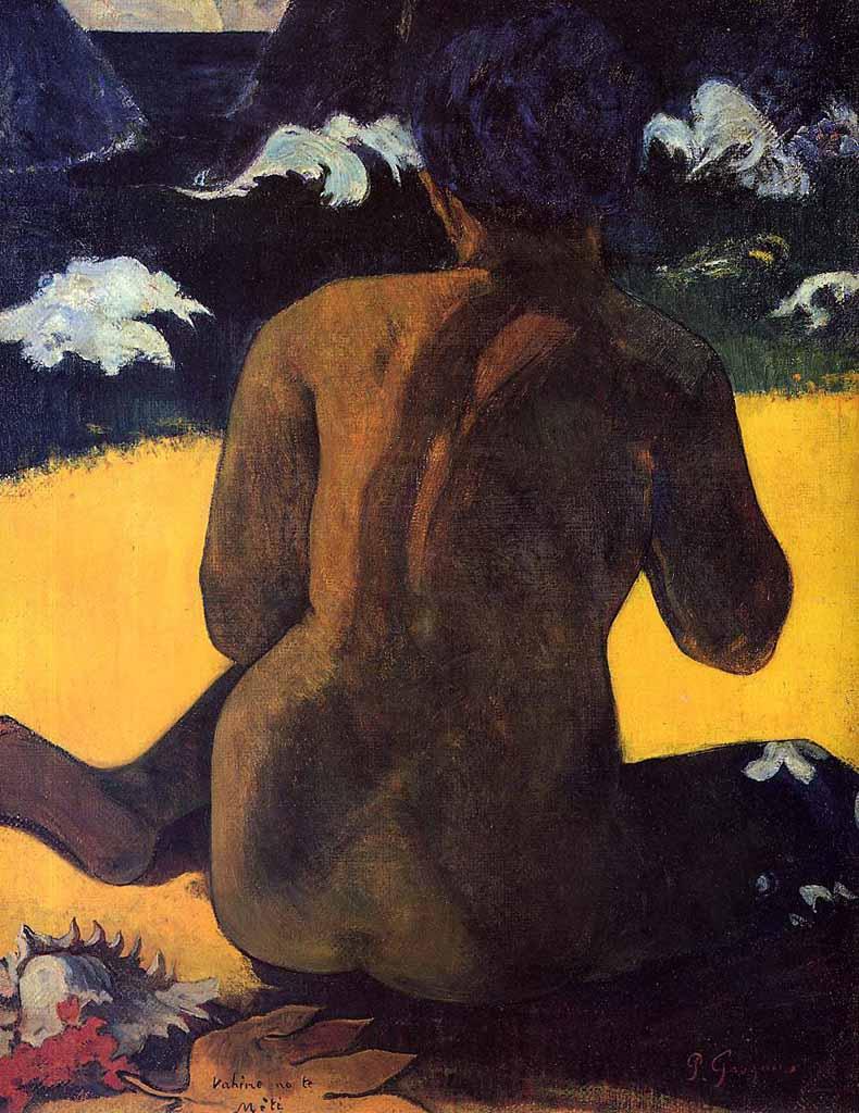 "Поль Гоген (Paul Gauguin) ""Woman by the sea"""