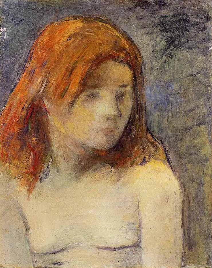 "Поль Гоген (Paul Gauguin) ""Bust of a nude girl"""