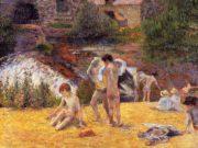 "Поль Гоген (Paul Gauguin) ""Bathing Place"""