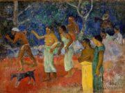 "Поль Гоген (Paul Gauguin) ""Scene from Tahitian Life"""