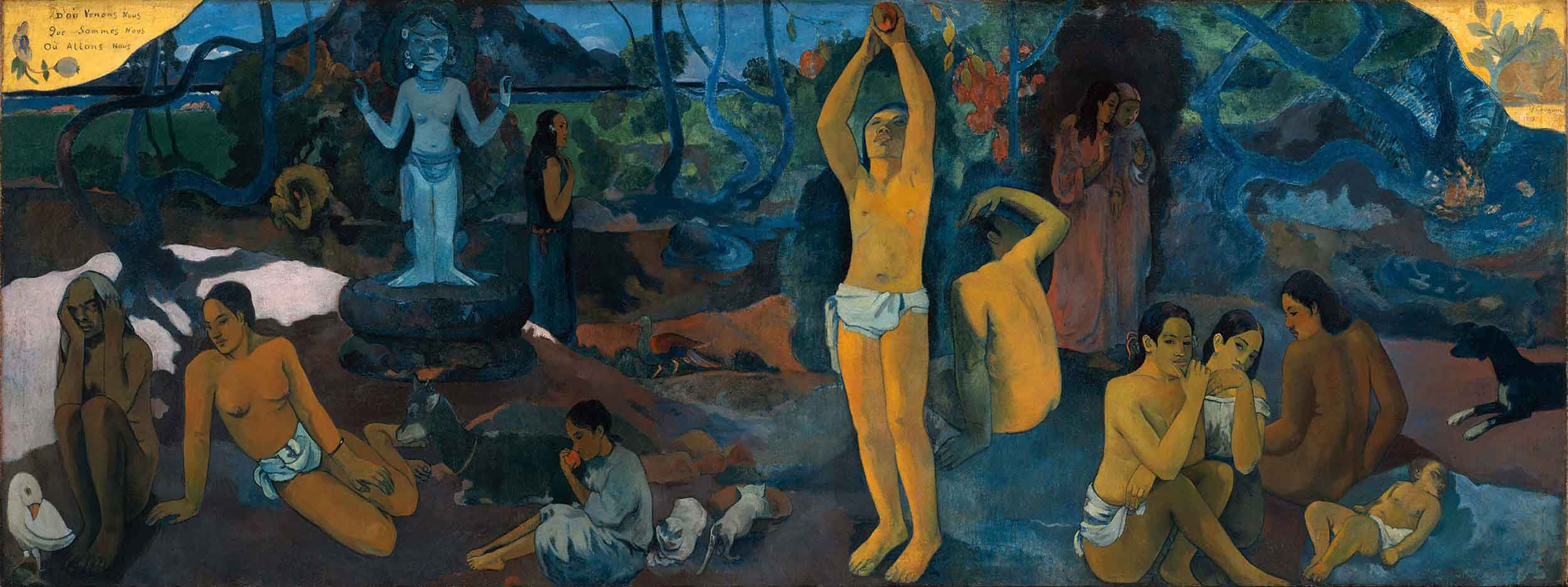 """Поль Гоген (Paul Gauguin) """"Where Do We Come From? What Are We? Where Are We Going?"""""""