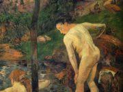 "Поль Гоген (Paul Gauguin) ""Two girls bathing"""
