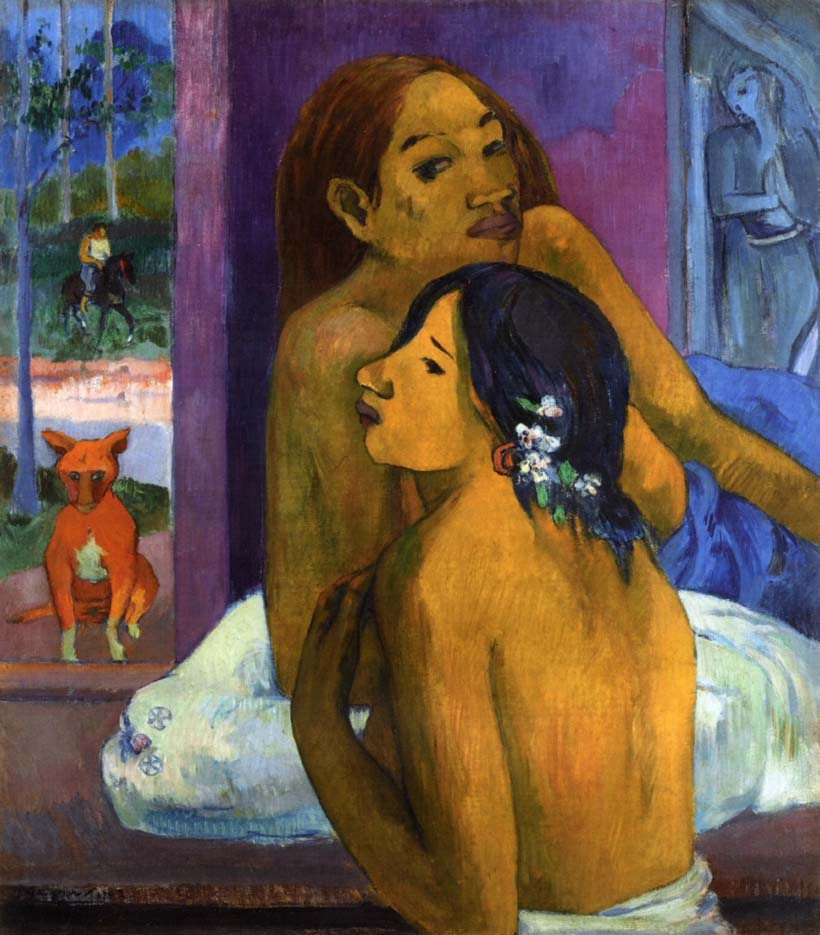 "Поль Гоген (Paul Gauguin) ""Two women (Flowered hair)"""