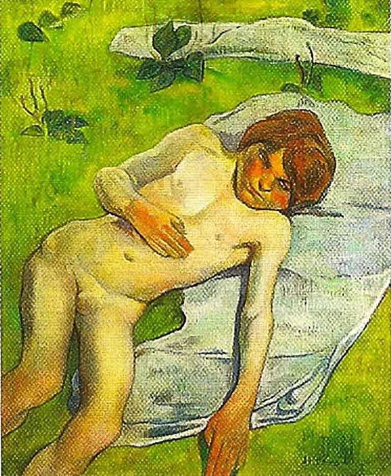 "Поль Гоген (Paul Gauguin) ""A breton boy"""
