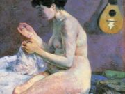 "Поль Гоген (Paul Gauguin) ""Suzanne Sewing - Study of a Nude"""