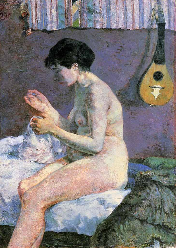 """Поль Гоген (Paul Gauguin) """"Suzanne Sewing - Study of a Nude"""""""