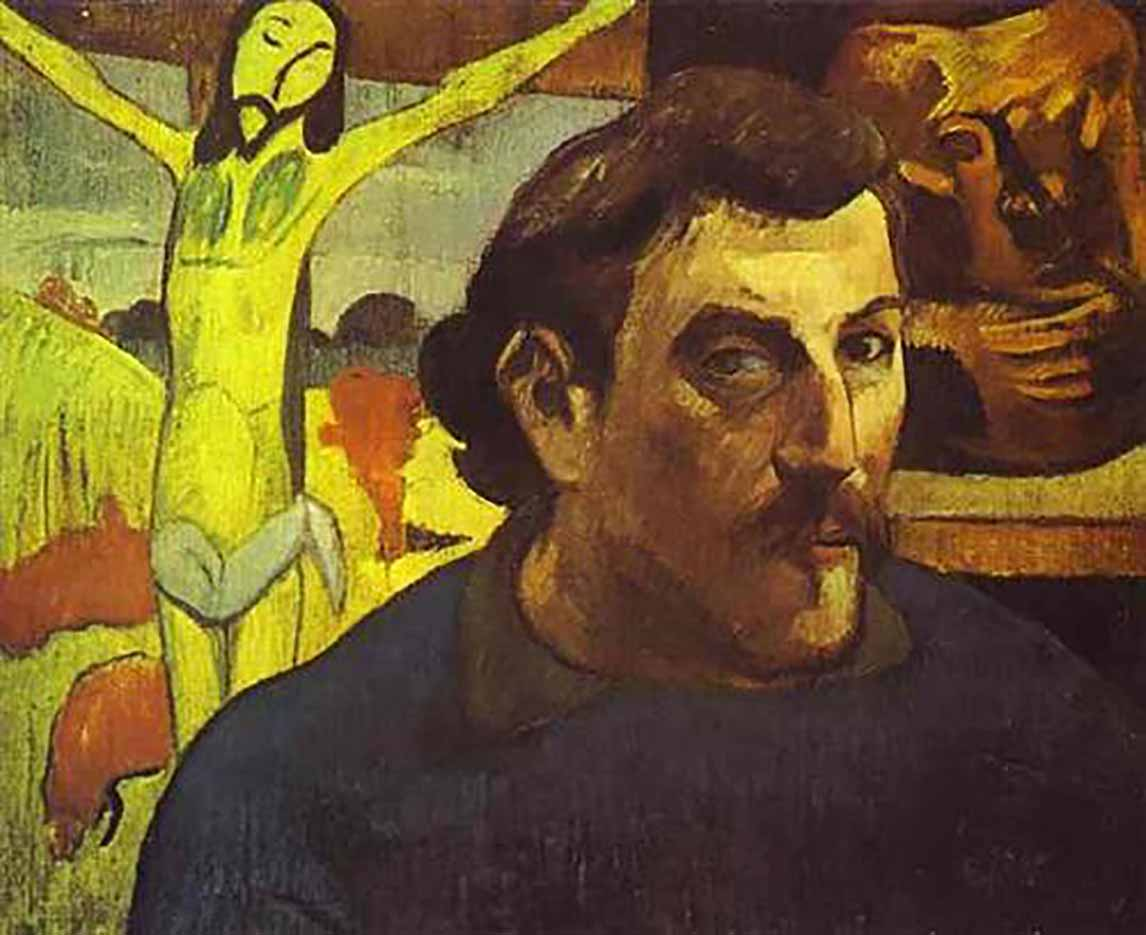 "Поль Гоген (Paul Gauguin) ""Self Portrait with the Yellow Christ"""