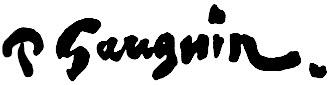 "Поль Гоген (Paul Gauguin) ""Signature"""