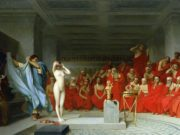 "Жан-Леон Жером (Jean-Leon Gerome) ""Phryne before the Areopagus"""