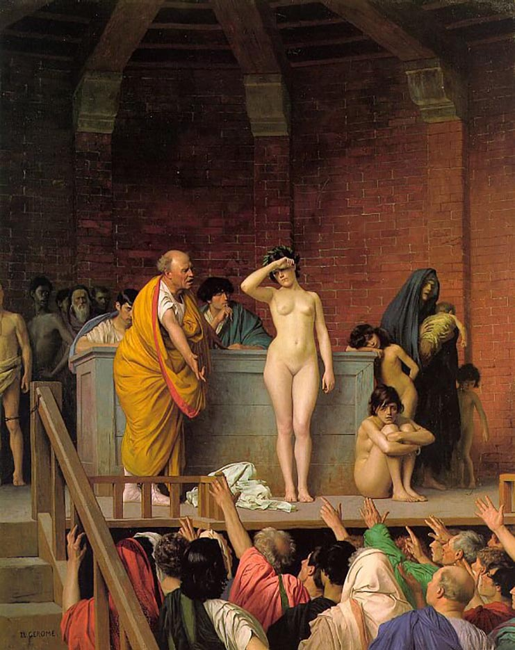 "Жан-Леон Жером (Jean-Leon Gerome) ""Slave Market in Ancient Rome"""
