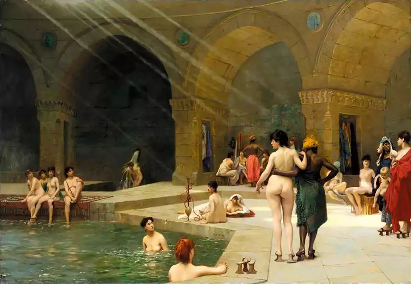 "Жан-Леон Жером (Jean-Leon Gerome) ""The Great Bath of Bursa"""