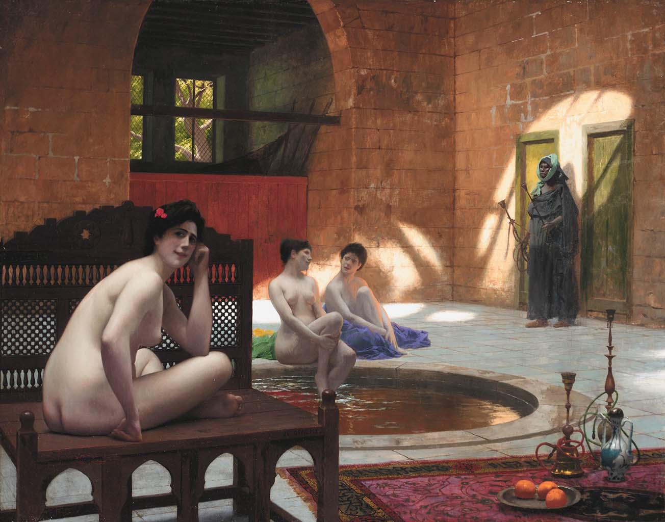 "Жан-Леон Жером (Jean-Leon Gerome) ""Femmes au bain"""