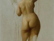 """Жан-Леон Жером (Jean-Leon Gerome) """"Nude (Queen Rodophe)"""""""
