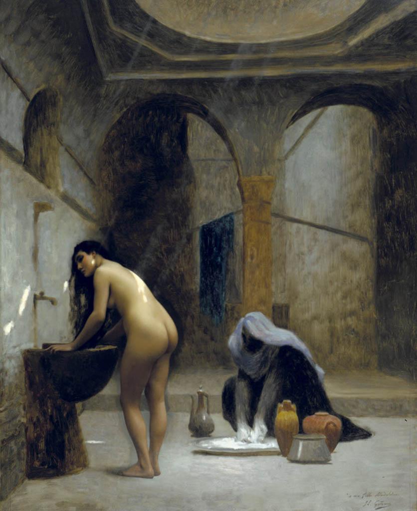 """Жан-Леон Жером (Jean-Leon Gerome) """"Etude pour un Bain Maure, Femme Turque au Bain"""""""