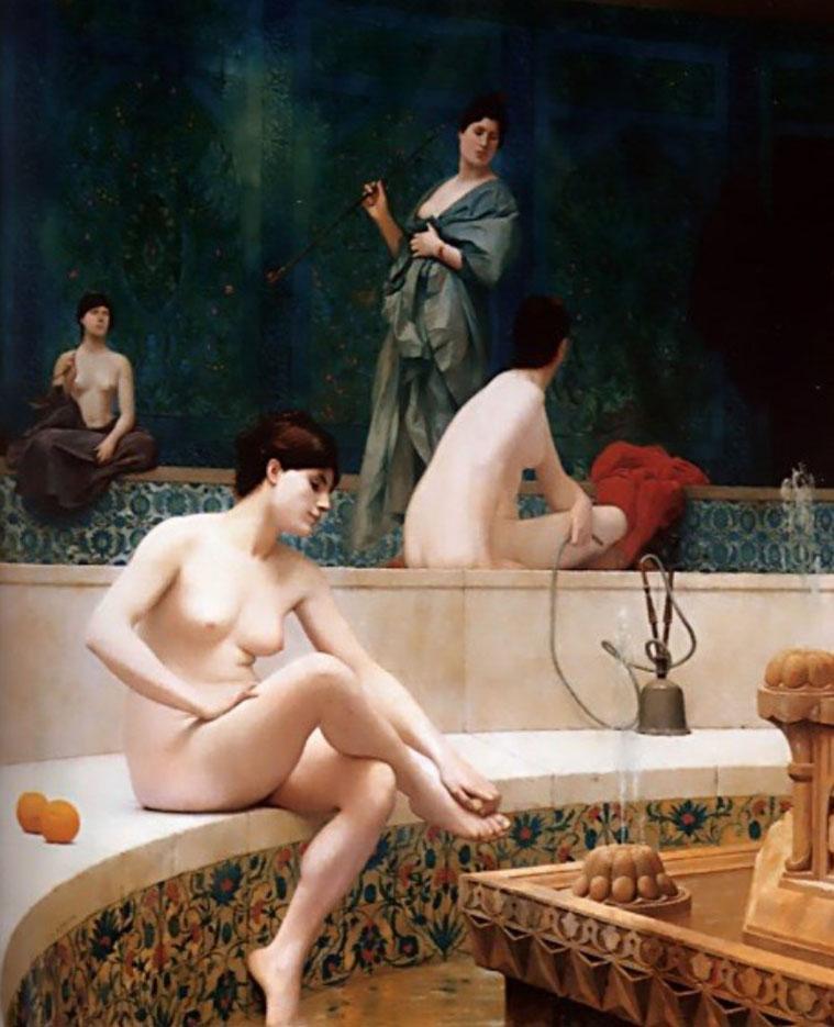 "Жан-Леон Жером (Jean-Leon Gerome) ""A Bath, Woman Bathing Her Feet - 2"""