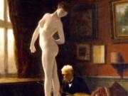 "Жан-Леон Жером (Jean-Leon Gerome) ""Self-Portrait Painting The Ball Player"""