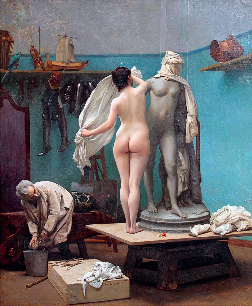 "Жан-Леон Жером (Jean-Leon Gerome) ""The end of the pose"""