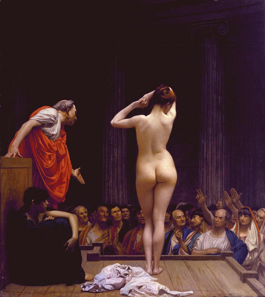 "Жан-Леон Жером (Jean-Leon Gerome) ""A Roman Slave Market   Vente d'esclaves a Rome"""