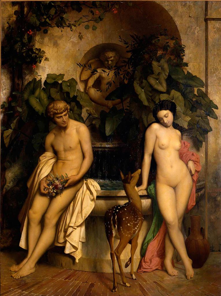 """Жан-Леон Жером (Jean-Leon Gerome) """"An Idyll (Daphnis and Chloe)"""""""