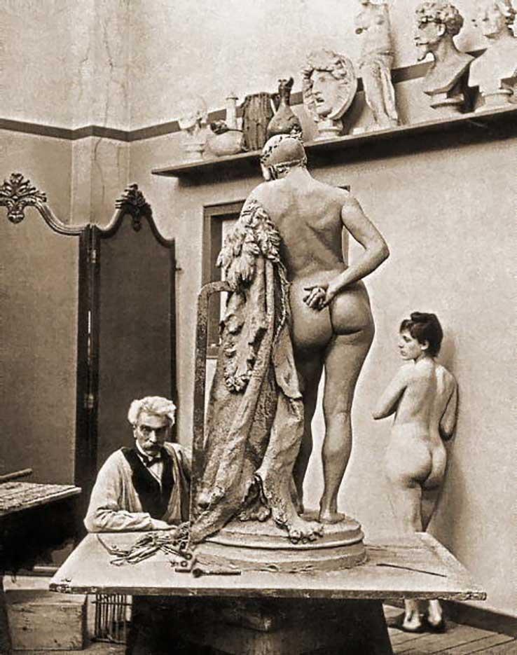 """Жан-Леон Жером (Jean-Leon Gerome) (Sculpture) """"Photo, circa 1885"""""""