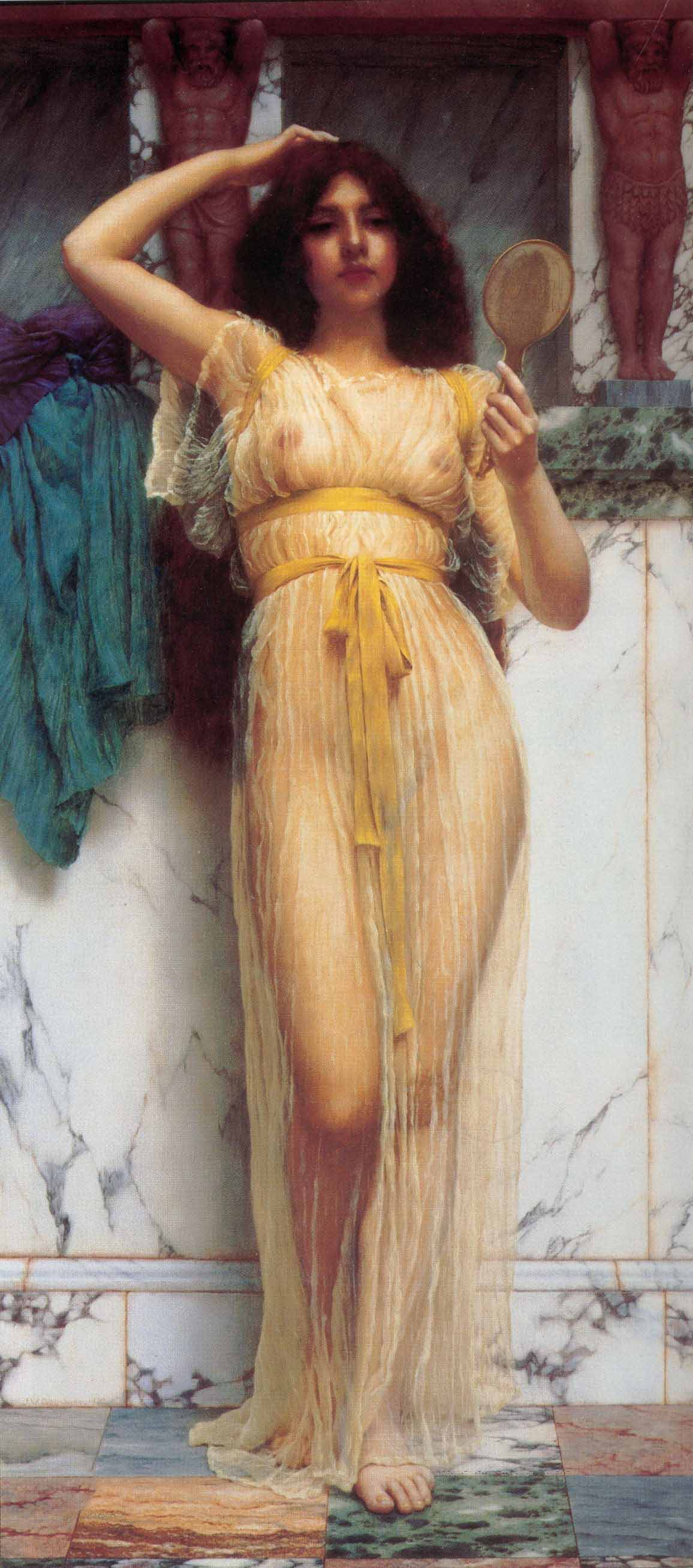 Джон Уильям Годвард (Godward John William). Зеркальце 1899