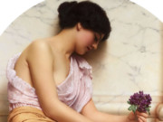 Джон Уильям Годвард (Godward John William). Фиалки 1906