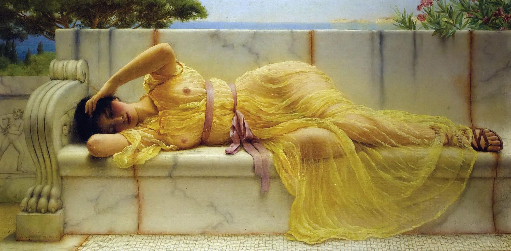 Девушка в желтой драпировке. Джон Уильям Годвард (John William Godward)