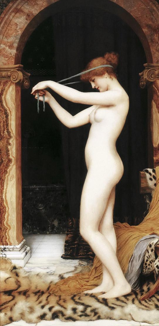 Джон Уильям Годвард (Godward John William).. Венера, связывающая волосы