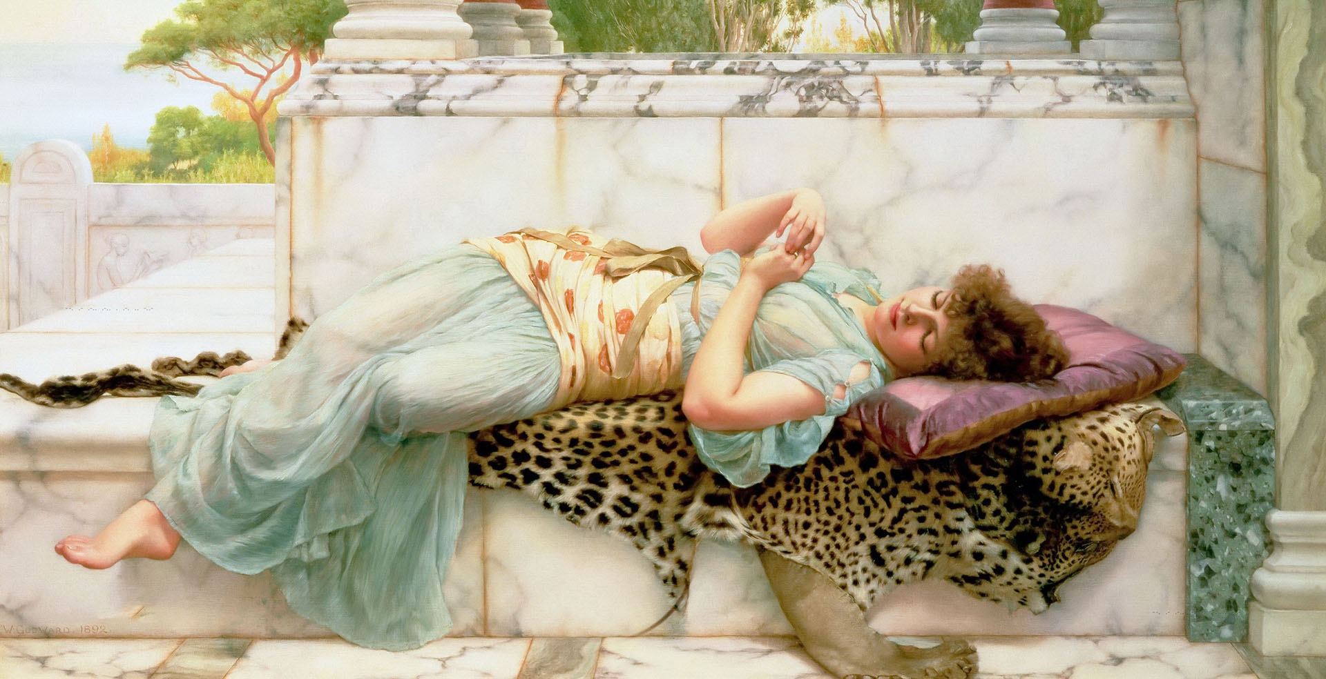 Джон Уильям Годвард (Godward John William). Обрученная 1892