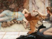 Джон Уильям Годвард. Спящая и озорница 1895
