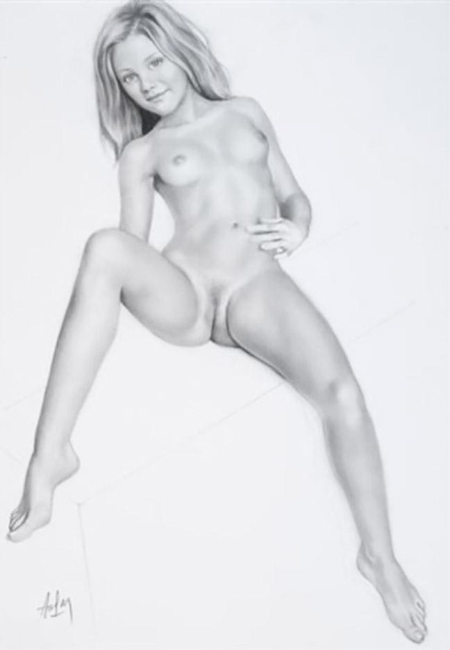 "Аслан (Ален Гурдон), (Aslan (Alain Gourdon) (Drawings) ""-Jeune femme offerte"