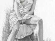 "Аслан (Ален Гурдон), (Aslan (Alain Gourdon) (Drawings) ""Rencontre au coin du bois"""