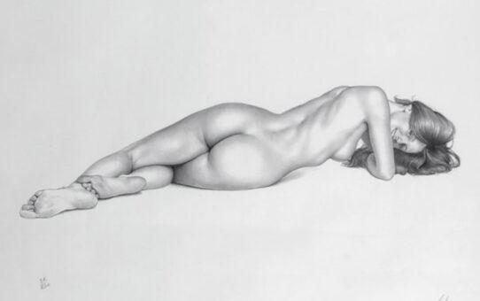 "Аслан (Ален Гурдон), (Aslan (Alain Gourdon) (Drawings) ""Nu allongé"""