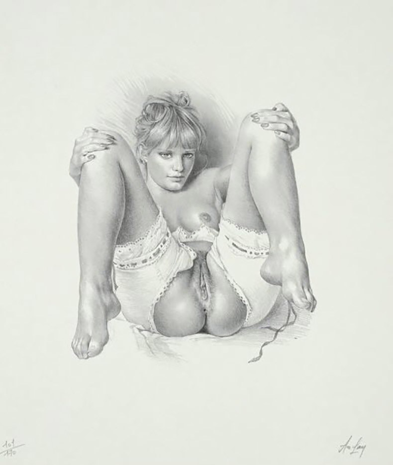 "Аслан (Ален Гурдон), (Aslan (Alain Gourdon) (Drawings) ""Erotique - 75"""