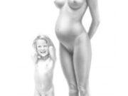 "Аслан (Ален Гурдон), (Aslan (Alain Gourdon) (Drawings) ""Mère et sa fille"""