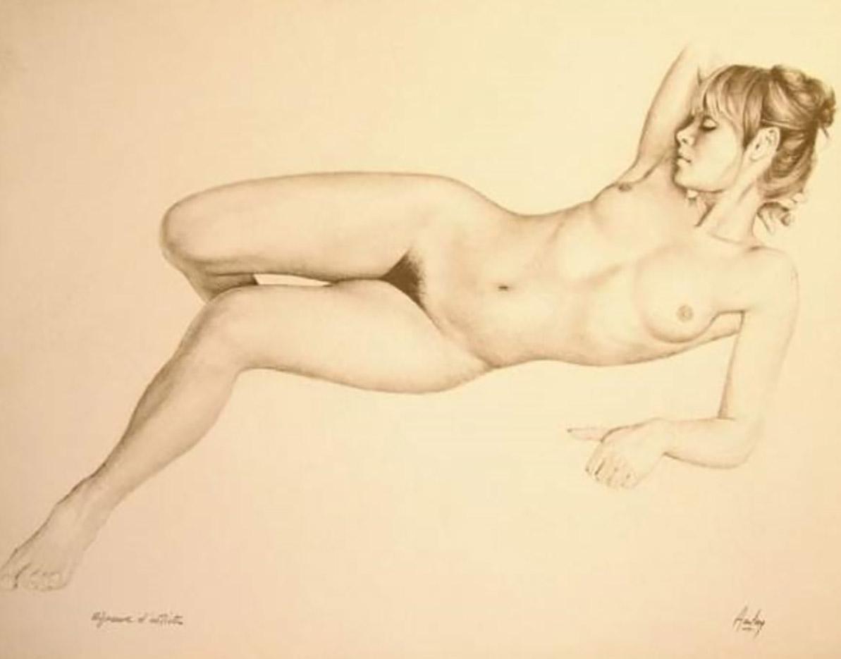 "Аслан (Ален Гурдон), (Aslan (Alain Gourdon) (Drawings) ""Nu assoupi"""