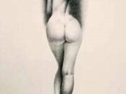 "Аслан (Ален Гурдон), (Aslan (Alain Gourdon) (Drawings) ""Nu de dos, jeu d'ombre et de lumière"""