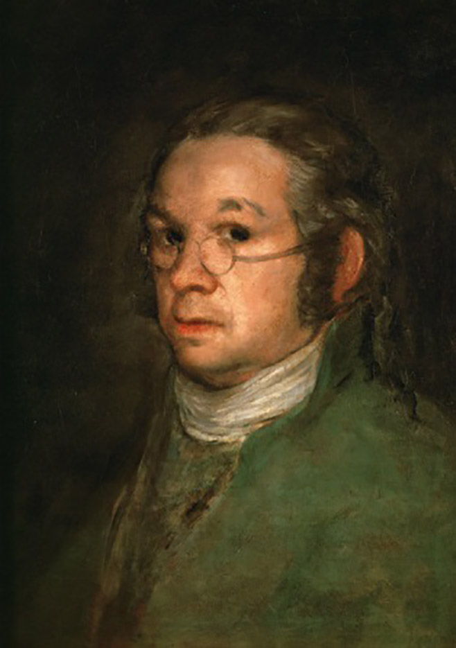 "Франсиско Гойя (Francisco Goya) ""Автопортрет в очках 