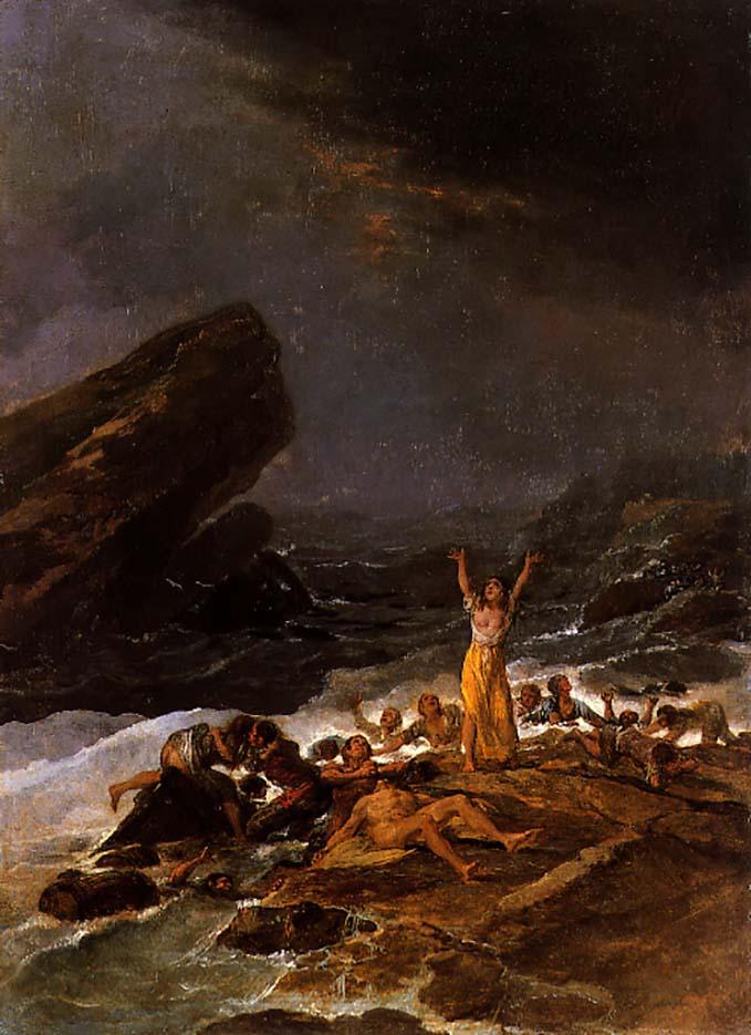 """Франсиско Гойя (Francisco Goya) """"Naufragio"""""""