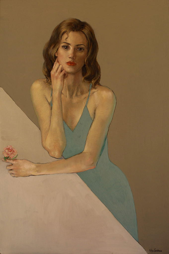 Катя Гриднева (Katya Gridneva), Green Dress
