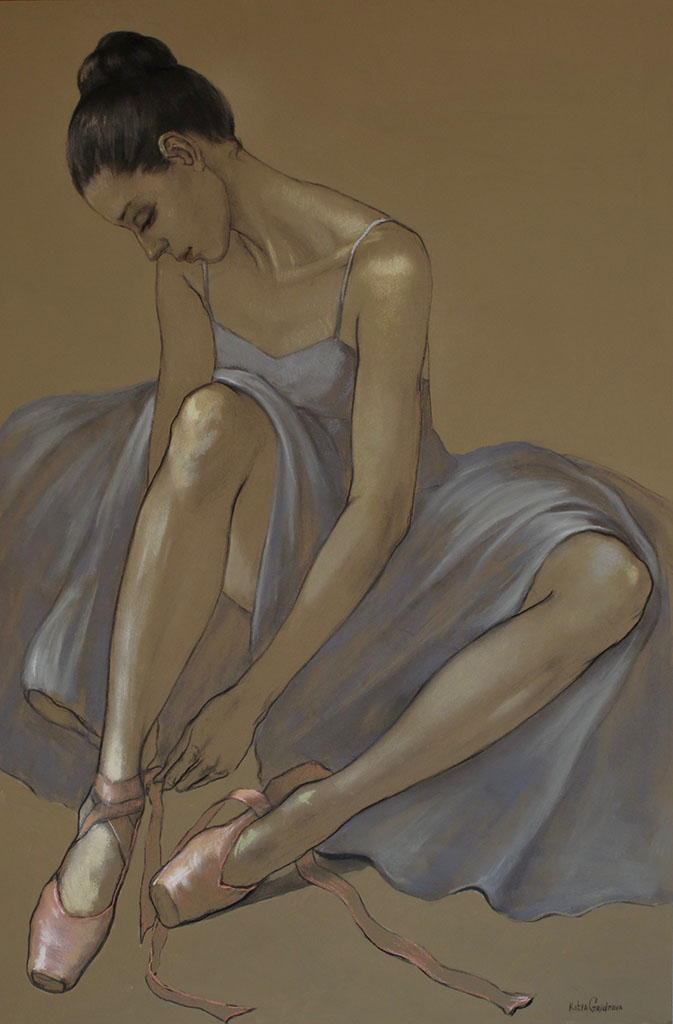 Катя Гриднева (Katya Gridneva), Blue Dress