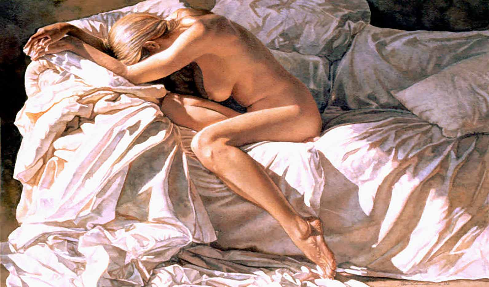"Стив Хэнкс (Steve Hanks) ""Blending Into Shadows And Sheets"""
